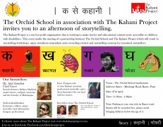 K for Kahani – Storytelling at The Orchid School: 27th April 2013