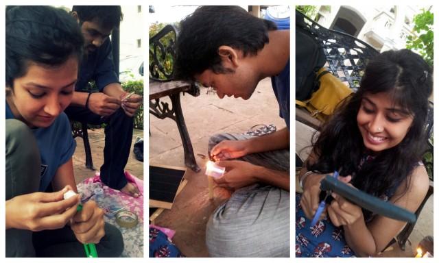 The fUN(Hard) Workers. Sonia, Nick, Madhur and Sneha.